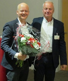 Bundestagskandidat Rüdiger Kleinke (li.) und Kreisvorsitzender Volkmar Winkler